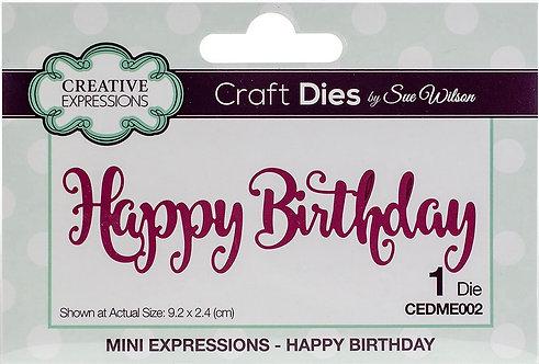 Creative Expressions Craft Die - Happy Birthday