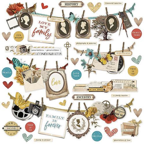 Simple Stories - Simple Vintage Ancestry - Banner Cardstock Stickers