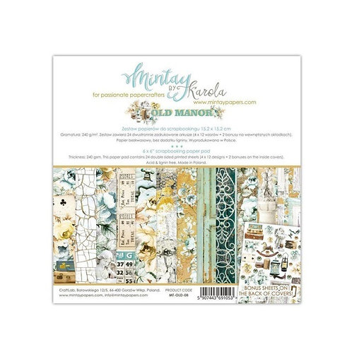 """Mintay Papers - Old Manor 6"""" x 6"""" Paper Pad"""