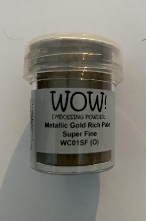 WOW! Emboss Powder Super Fine - Metallic Gold Rich Pale
