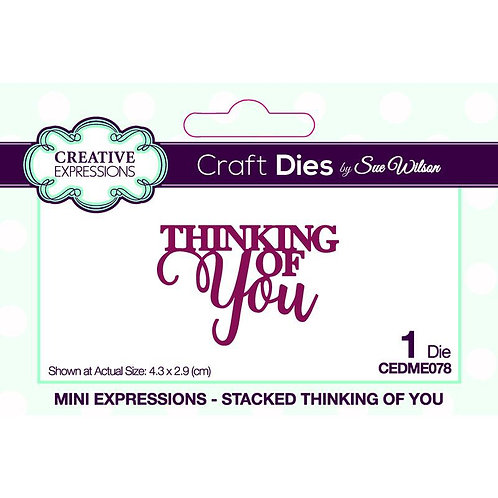 Creative Expressions Craft Dies - Thinking Of You