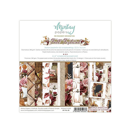 """Mintay Papers - Fall Festival 6""""x6"""" Paper Pad"""