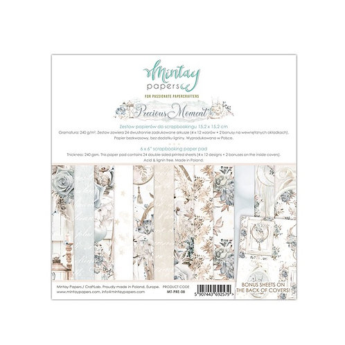 "Mintay Papers - Precious Moment 6"" x 6"" Paper Pad"