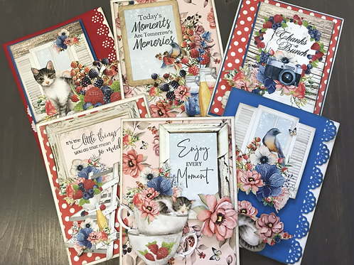 """""""Berrylicious"""" Card Kit -  Set of 6 Cards"""