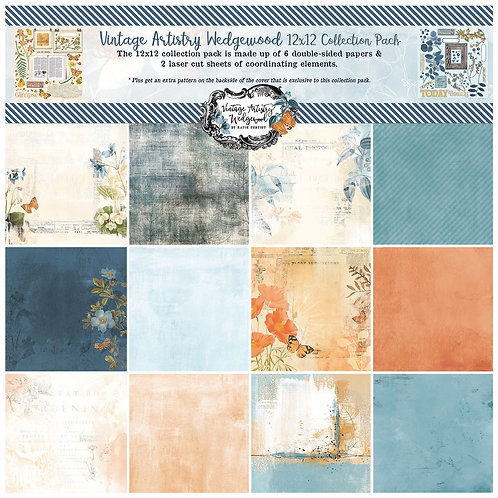 49 and Market - Vintage Artistry Wedgewood 12x12 Collection Pack
