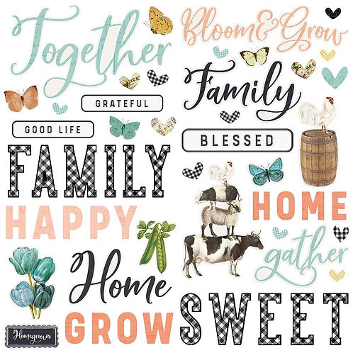 Simple Stories - Simple Vintage Farmhouse Garden - Foam Stickers