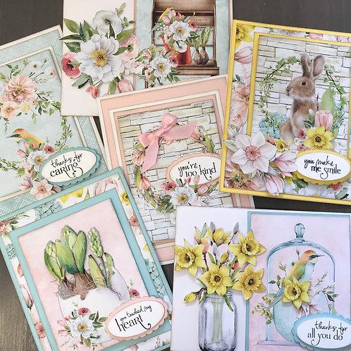 """Beauy in Bloom"" Card Kit -  Set of 6 Cards"