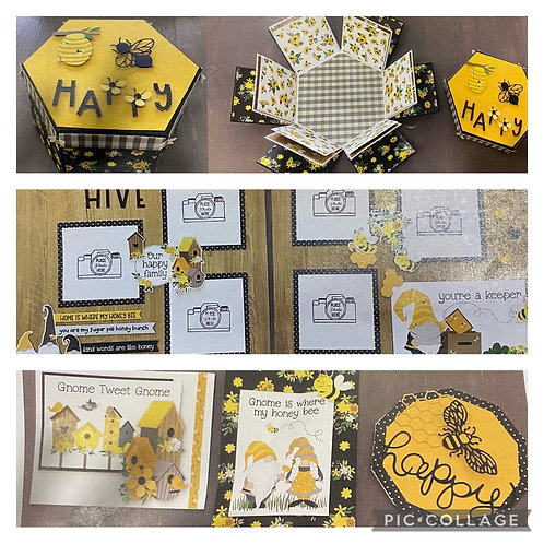Sweet As Honey Explosion Box, Double Page Layout & Card kit