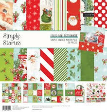 """Simple Stories- """"Simple Vintage North Pole"""" 12""""x12"""" Paper Collection"""