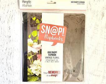Simple Stories Vintage Floral 6x8 SN@P Flipbook
