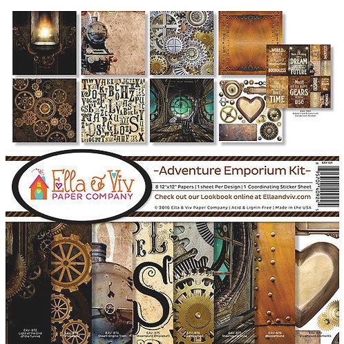 "Ella & Viv Paper Company - Adventure Emporium 12""x12"" collection"