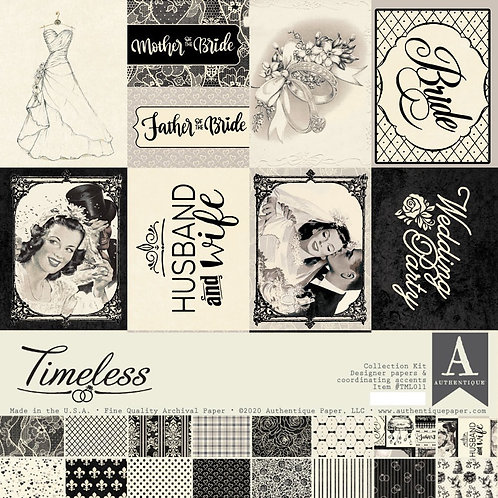 """Authentique - """"Timeless"""" 12""""x12"""" Paper Collection"""