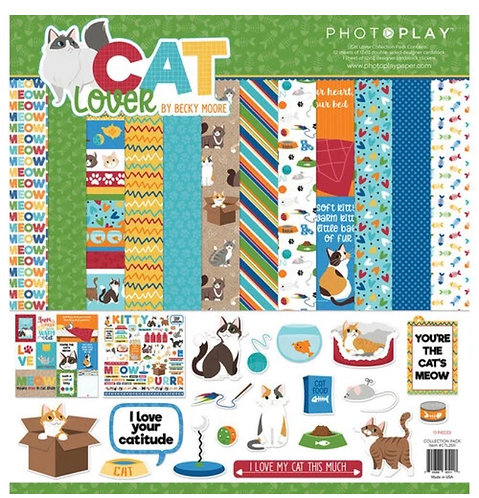 "Photoplay - I Love Cats 12""x12"" Collection Kit"