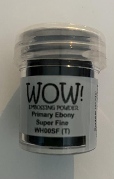 WOW! Emboss Powder Super Fine - Primary Ebony