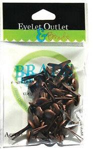 Eyelet Outlet - Brushed Brass (8mm)