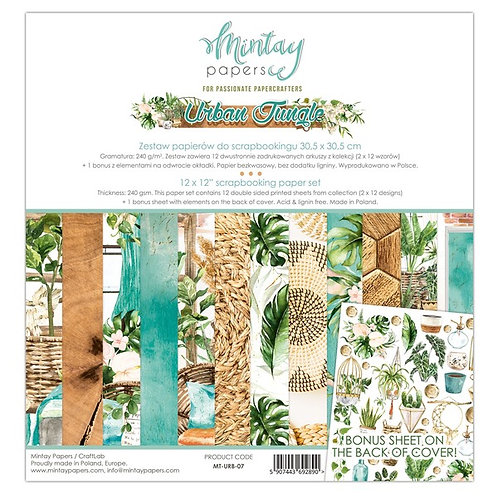 "Mintay Papers - Urban Jungle 12""x12"" Paper Collection"