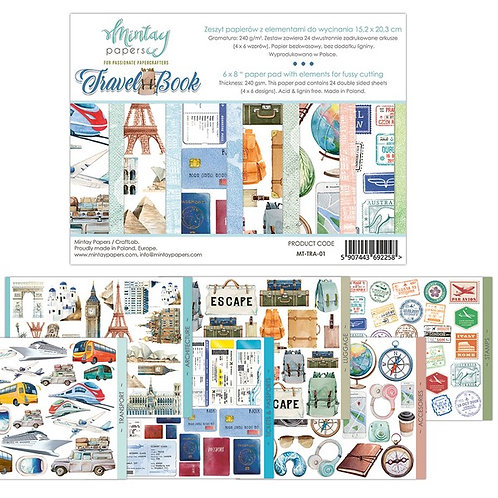 """Mintay Papers - Travel Book 6"""" x 8"""" Paper Pad"""