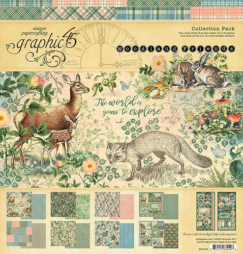 Graphic 45 - Woodland Friends Collection Pack