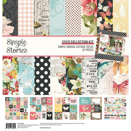 Simple Stories - Simple Vintage Cottage Fields 12x12 Collection Pack