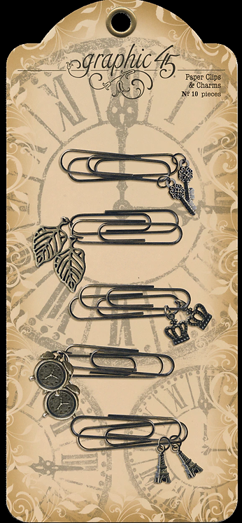 Graphic 45 - Metal Charm Clips