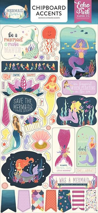 """Echo Park- """"Mermaid Dreams"""" Chipboard Accents"""