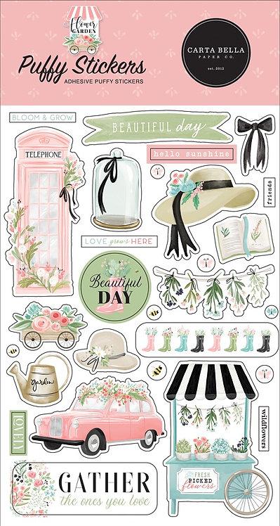 Carta Bella - Flower Garden Puffy Stickers