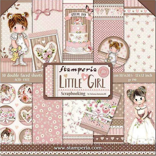 """Stamperia - Little Girl 12""""x12"""" Collection Kit"""