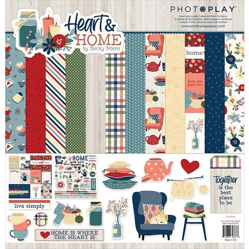 "Photoplay - ""Heart & Home"" 12""x12"" Paper Collection"