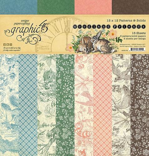 Graphic 45 - Woodland Friends Patterns & Solids