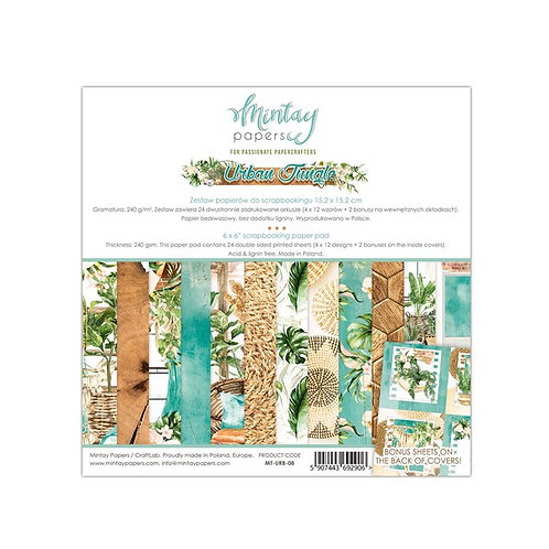 """Mintay Papers - Urban Jungle 6"""" x 6"""" Paper Pad"""