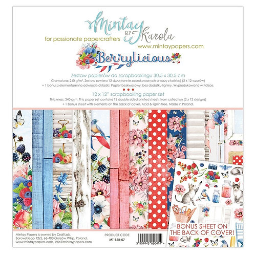 "Mintay Papers - Berrylicious 12""x12"" Paper Collection"