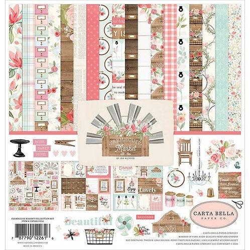 "Carta Bella Paper Co. - ""Farmhouse Market"" 12""x12"" Paper Collection"