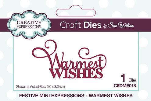Creative Expressions Craft Dies - Warmest Wishes
