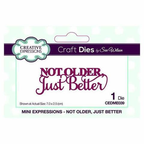 Creative Expressions Craft Dies - Not Older Just Better