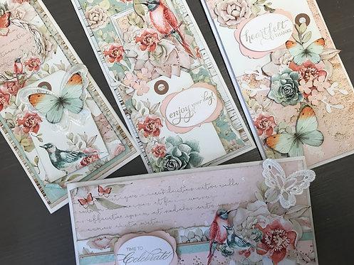 """""""Birdsong"""" Card Kit -  Set of 4 Cards"""