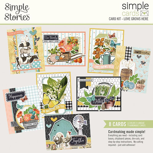 Simple Stories - Love Grows Here - Simple Cards Card Kit