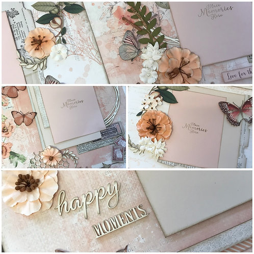 """""""Coral Vintage Artistry"""" Deluxe Layout Kit"""