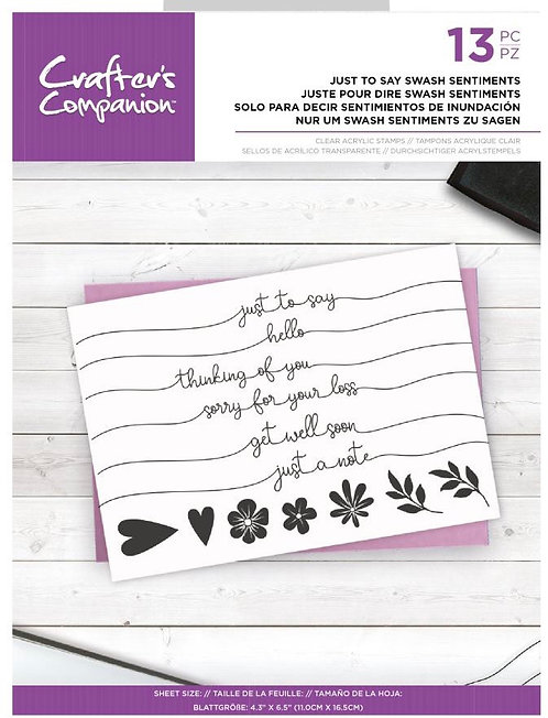 Crafters Companion Just Say Swash Sentiments