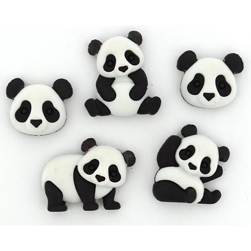 Panda Pile! Buttons - Dress It Up