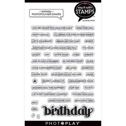 Photoplay - Birthday Stamps/Die
