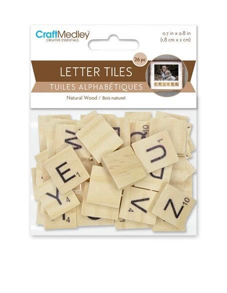 Craft Medley Letter Tiles