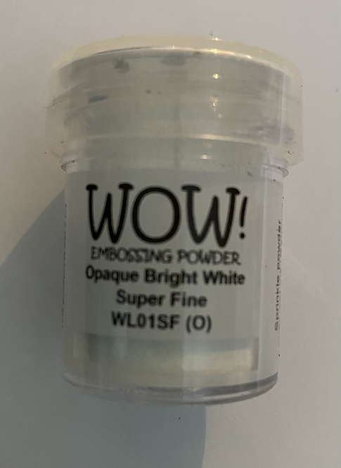WOW! Emboss Powder Super Fine - Opaque Bright White