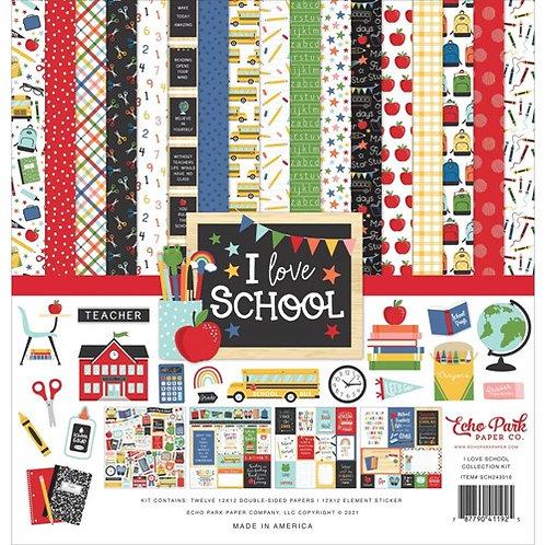 Echo Park - I Love School 12x12 Collection Kit