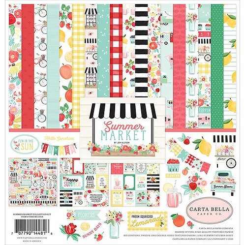 "Carta Bella Paper Co. - ""Summer Market"" 12""x12"" Paper Collection"