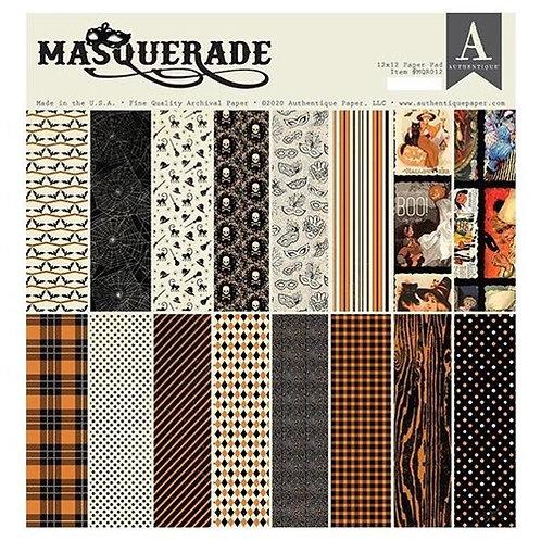 "Authentique - ""Masquerade""  12""x12"" Paper Collection"