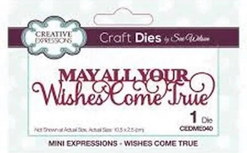 Creative Expressions Craft Dies - May All Your Wishes Come True