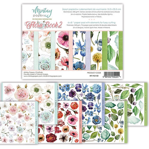"""Mintay Papers - Flora Book 2 - 6"""" x 8"""" Paper Pad"""