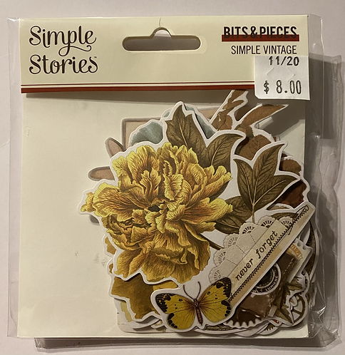 Simple Stories - Simole Vintage Ancestry - Bits & Pieces
