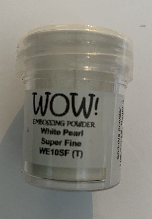 WOW! Emboss Powder Super Fine - white Pearl