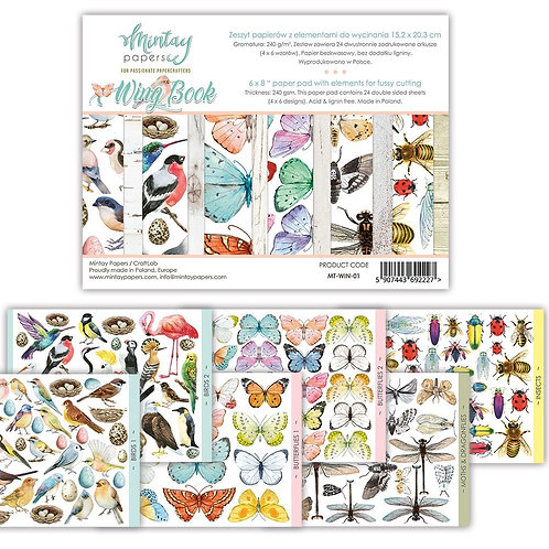 """Mintay Papers - Wing Book 6"""" x 8"""" Paper Pad"""